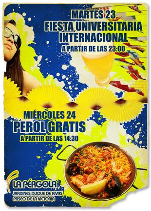 Cartel Fiesta Erasmus