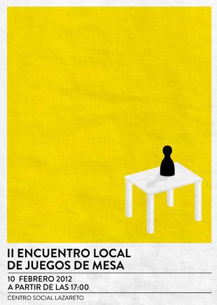 Cartel I Encuentro local de juegos de mesa