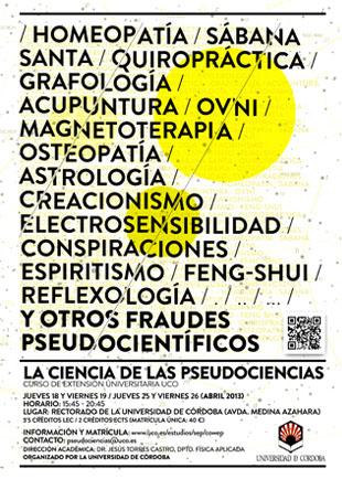 Cartel La Ciencia de las Pseudociencias
